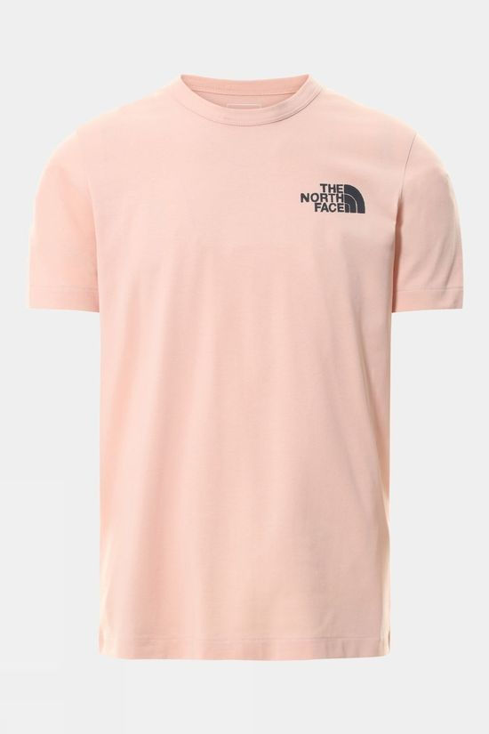 The North Face Mens Short Sleeve Himalayan Bottle Source Tee Evening Sand Pink