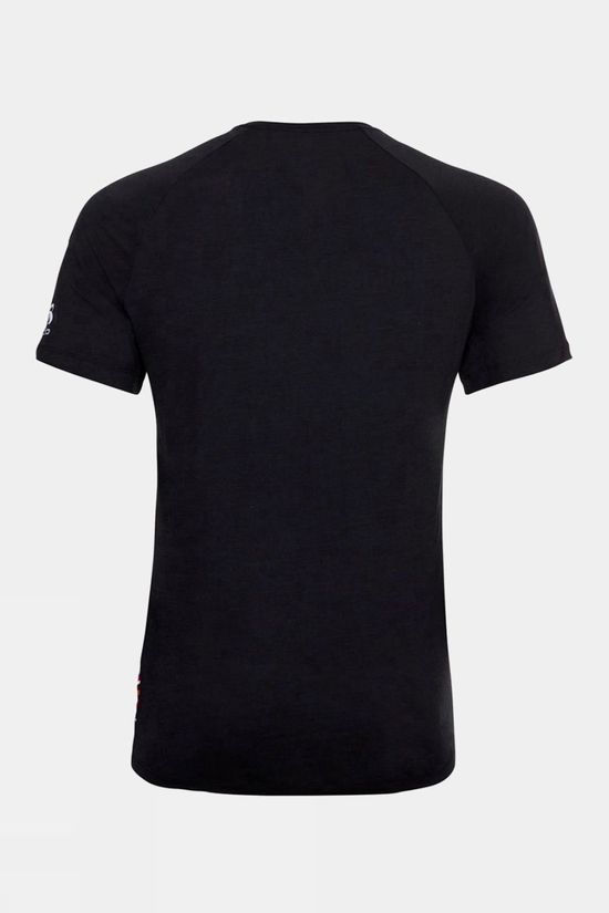 Odlo Mens Concord T-Shirt Black - Odlo Mountain Print Ss20