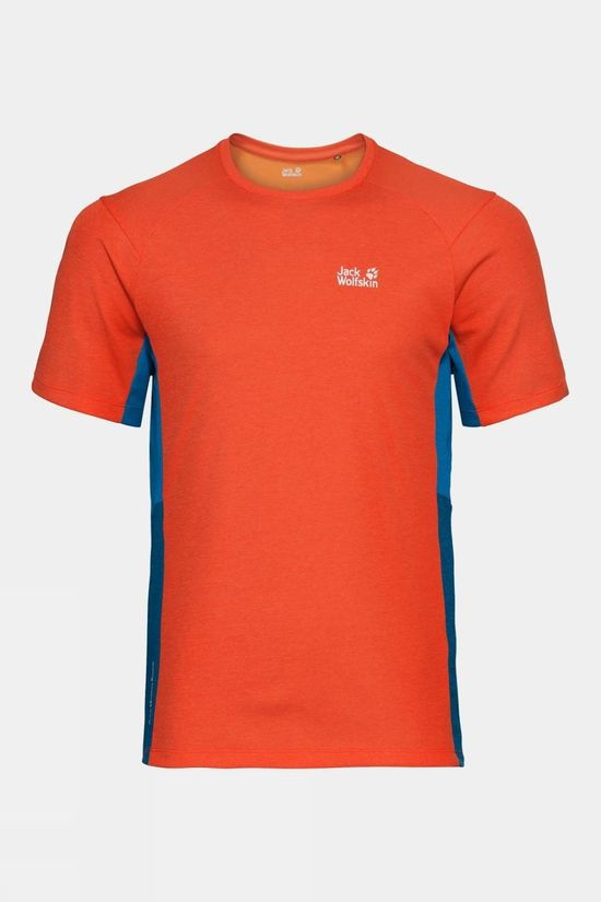 Jack Wolfskin Mens Narrows Sky Tee Wild Brier