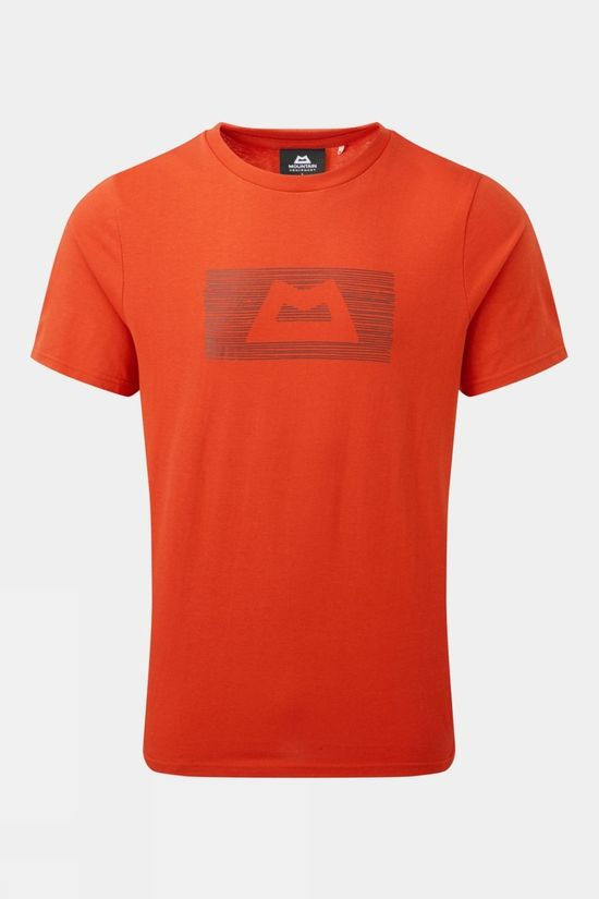 Mountain Equipment Mens King Line Short Sleeve Tee Paprika