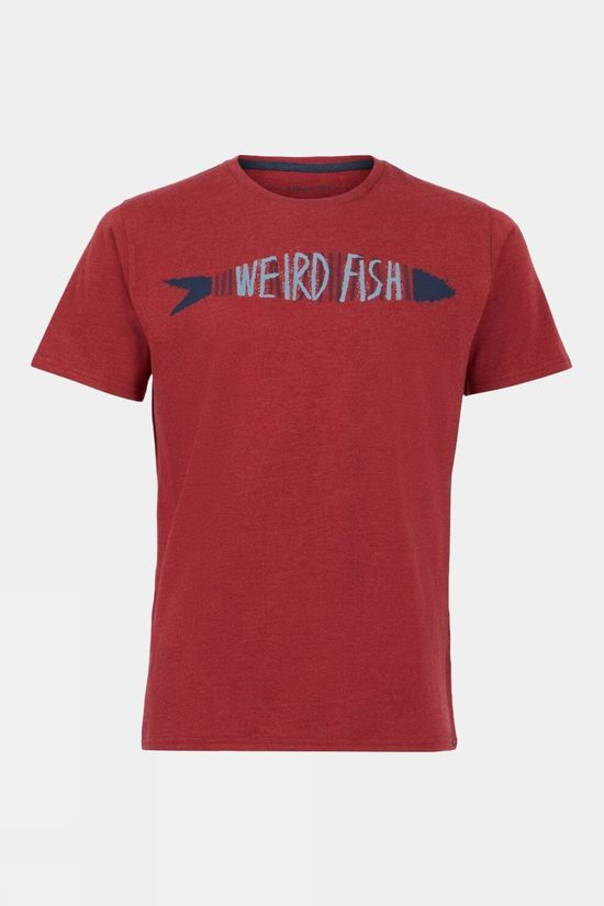 Weird Fish Mens Barcod Eco Branded Tee Chilli Pepper