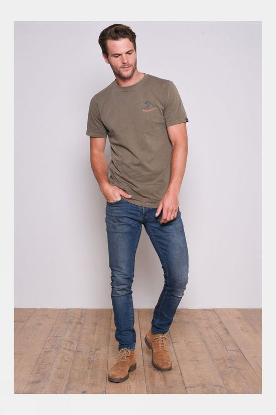 Brakeburn Stormy Sea Garment Dyed Tee Green