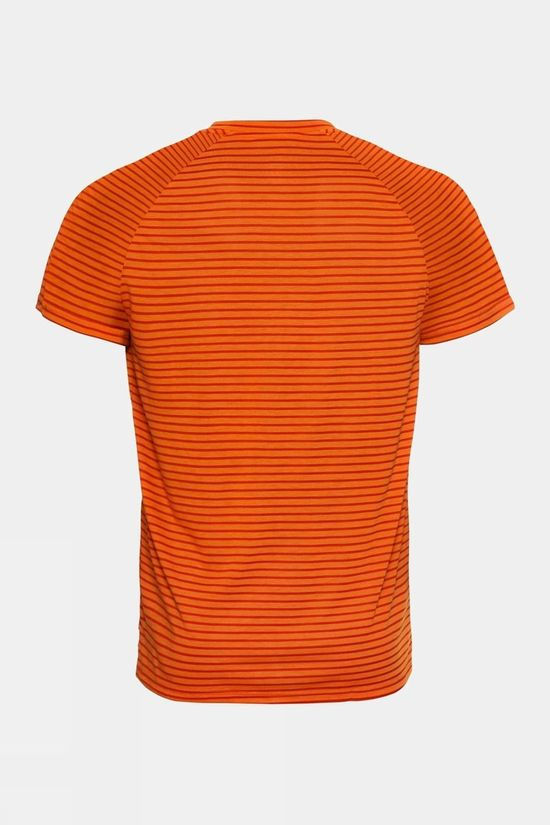 Odlo Mens Concord Element Short Sleeve T-Shirt Marmalade - Sugar Almond