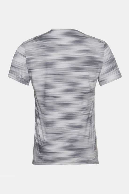 Odlo Neck Fli Chill-Tec Print Short Sleeve T-Shirt Odlo Silver Grey - Graphic Ss21