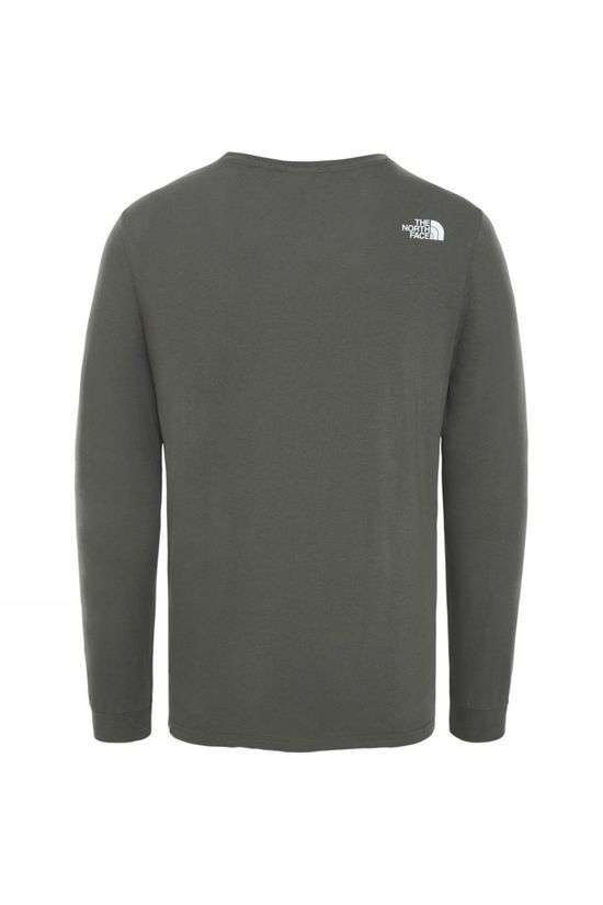 The North Face Mens Long Sleeve Simple Dome T-Shirt New Taupe Green/TNF White