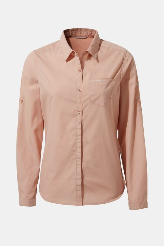 Craghoppers Womens Kiwi Long Sleeve Shirt Corsage Pink