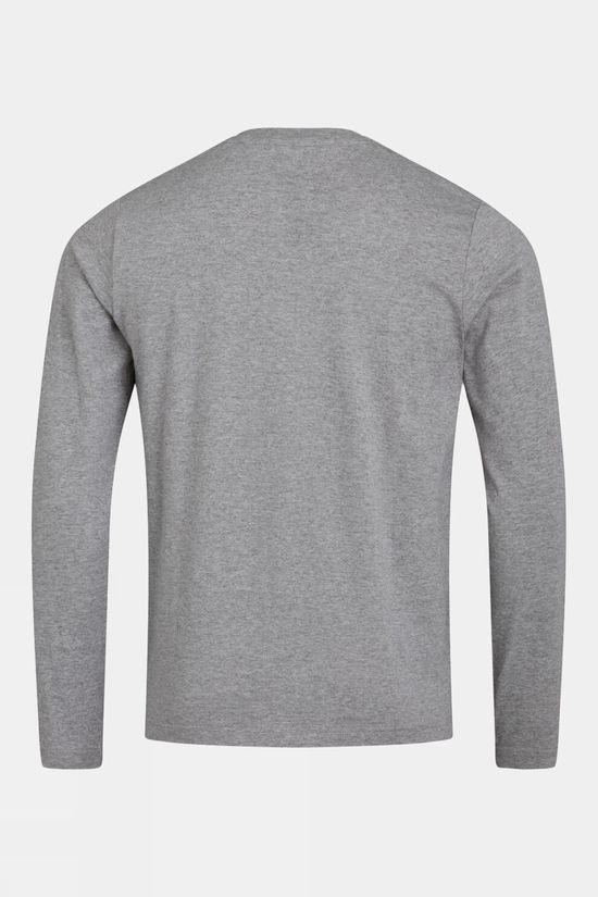 Berghaus Mens Organic Big Logo Long Sleeve Tee Grey Marl