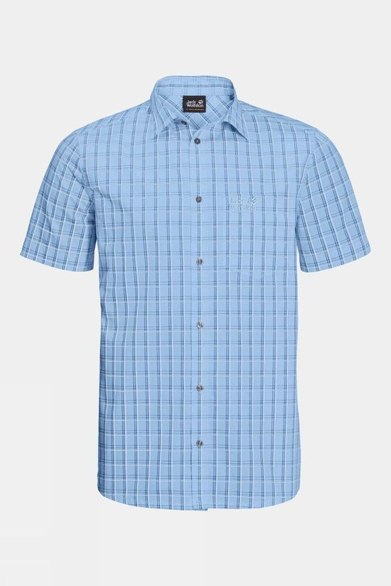 Jack Wolfskin Mens Hot Springs Shirt Cool Water Checks