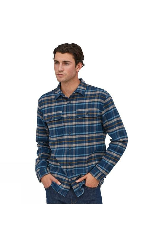 Patagonia Mens Long-Sleeved Fjord Flannel Shirt Independence New Navy