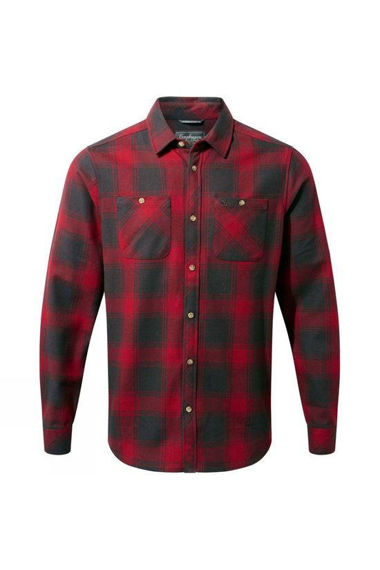 Craghoppers Mens Machrie Long Sleeve Shirt Firth Red Check