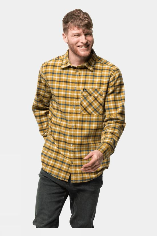 Jack Wolfskin Fraser Island Shirt Golden Amber Checks