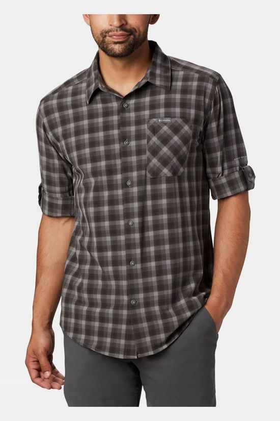 Columbia Mens Triple Canyon LS Shirt Columbia Grey, Mini Tonal Plaid