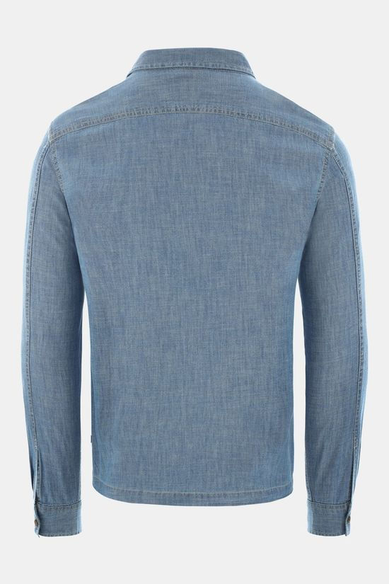 The North Face Mens Long Sleeve Berkeley Chambray Shirt Medium Indigo Chambray