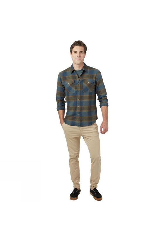 Tentree Bowren Button Up Long Sleeve Shirt Bowren Plaid Moss