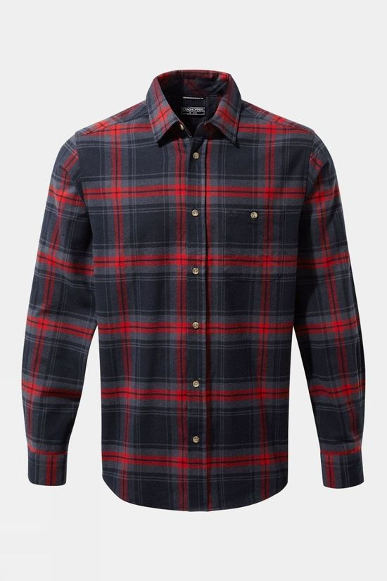 Craghoppers Mens Wilmot Long Sleeved Shirt Blue Navy Check