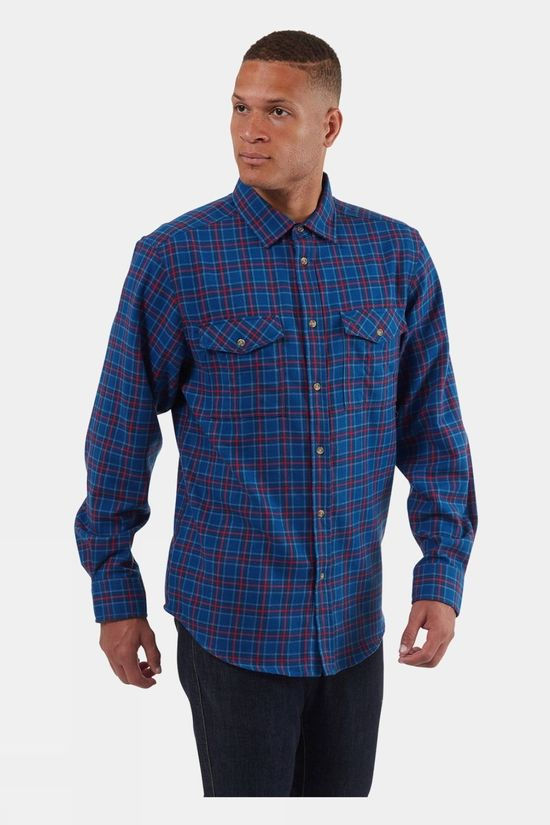 Craghoppers Kiwi Check LS Shirt Deep Blue Check