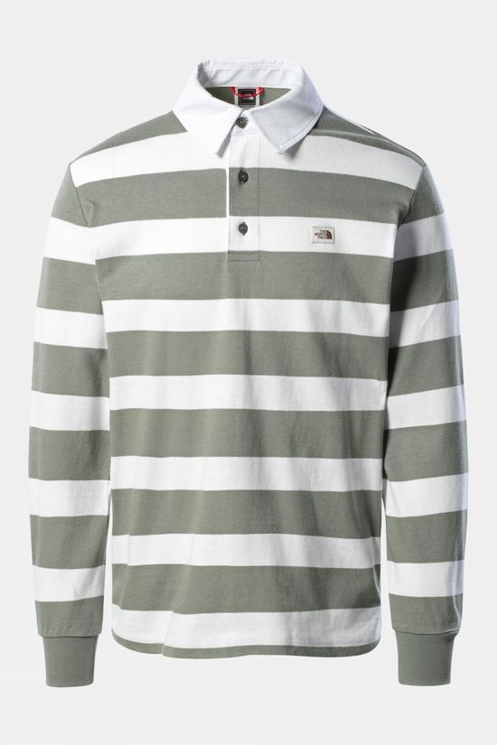 The North Face Long Sleeve Rugby Shirt Agave Green Stripe