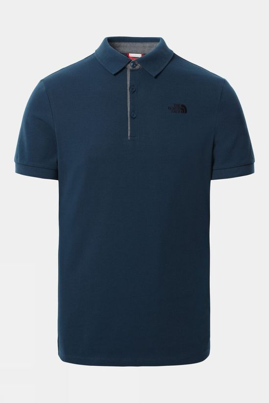 The North Face Mens Premium Polo Piquet Monterey Blue