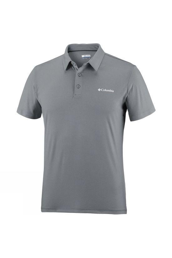 Columbia Mens Triple Canyon Tech Polo Shirt Columbia Grey Heather