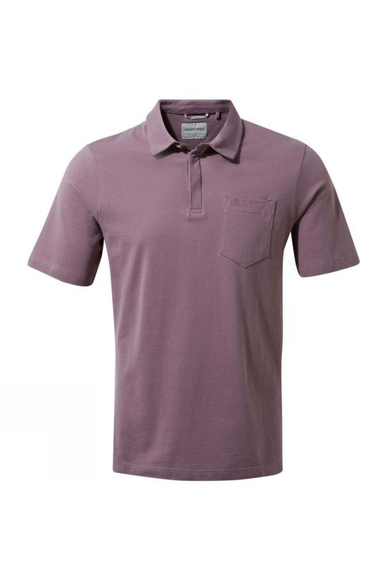 Craghoppers Mens Meran Short Sleeve Polo Mulberry