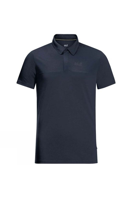 Jack Wolfskin Mens JWP Polo T-shirt Night Blue