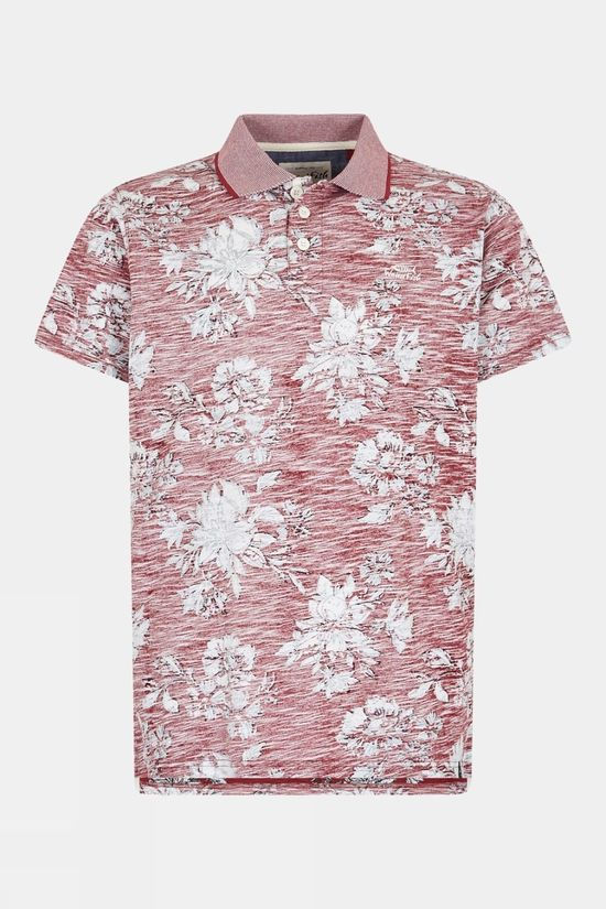 Weird Fish Mens Pascoe Printed Polo Chilli Pepper