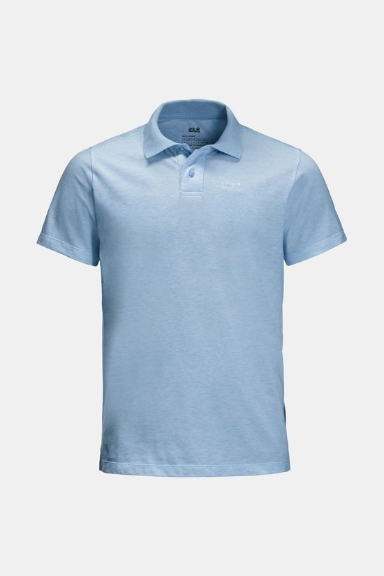 Jack Wolfskin Pique Polo T-shirt Cool Water