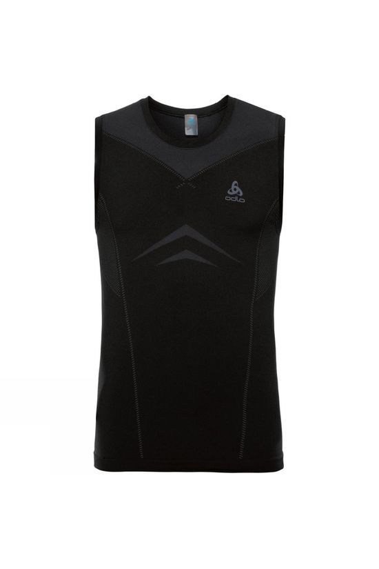 Odlo Performance Light Crew Neck Singlet Black - Odlo Graphite Grey