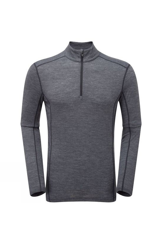 Montane Mens Primino 140 Zip Neck Top Black