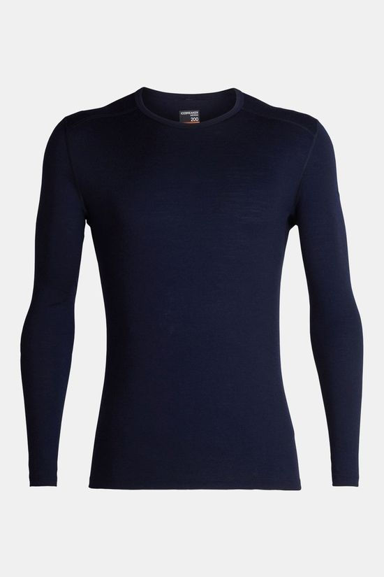 Icebreaker Mens 200 Oasis Long Sleeve Crewe Top Midnight Navy