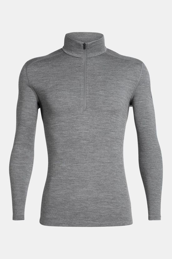 Icebreaker Mens 260 Tech Long Sleeve Half Zip Top Gritstone Heather