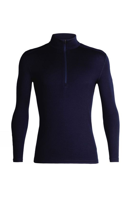 Icebreaker Mens 260 Tech Long Sleeve Half Zip Top Midnight Navy