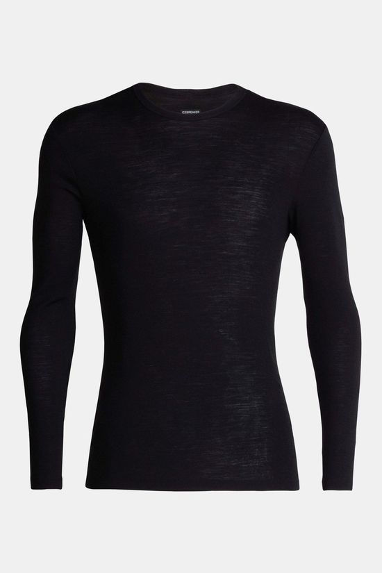 Icebreaker Mens 175 Everyday Long Sleeve Crewe Top Black
