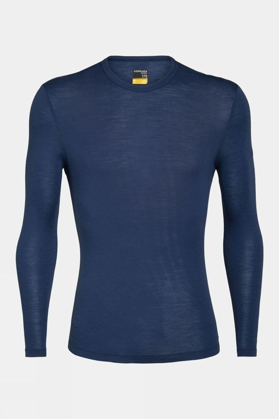 Icebreaker Mens 175 Everyday Long Sleeve Crewe Top Estate Blue