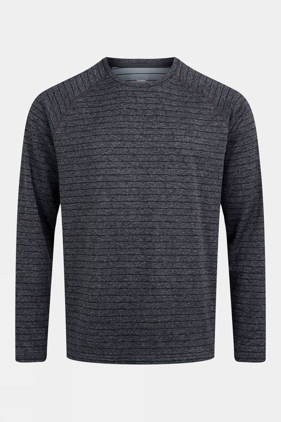Berghaus Mens Thermal Tech Long Sleeve T-Shirt Monument/Grey Pinstripe