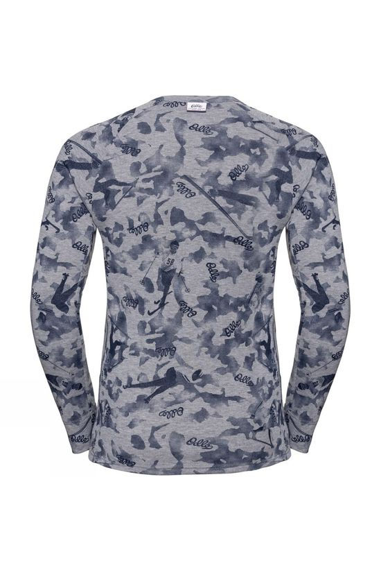 Odlo Mens Active Warm Originals Long-Sleeve Base Layer Top Grey Melange - AOP FW19
