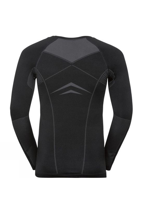 Odlo Mens Performance Evolution Warm Long-Sleeve Base Layer Top Black - Odlo Graphite Grey