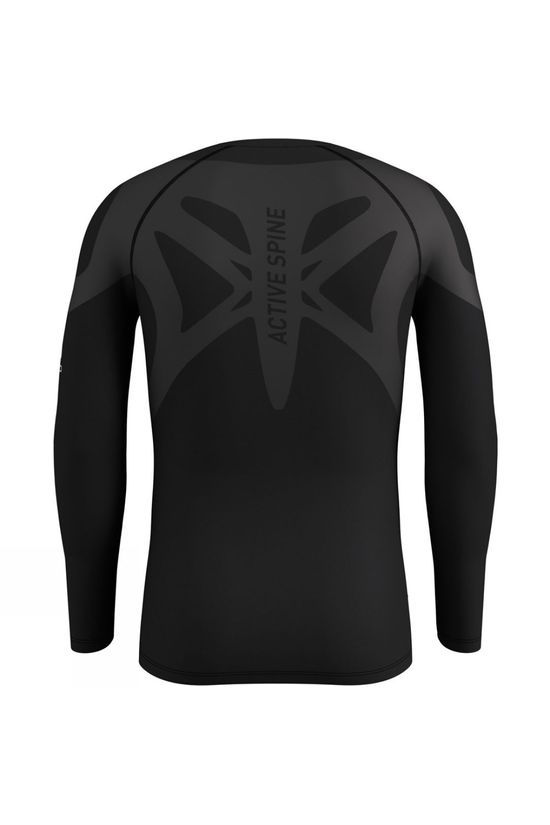 Odlo Mens Active Spine Light Long Sleeve Base Layer Top Black