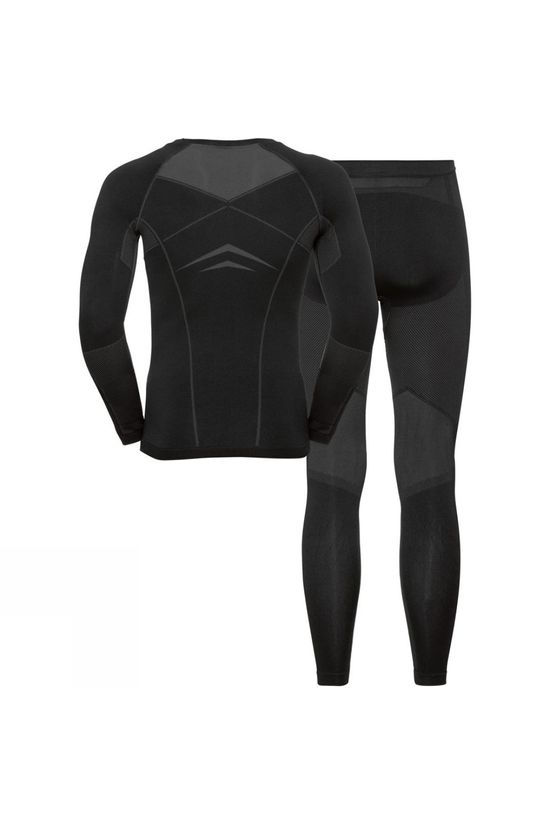 Odlo Mens Performance Evolution Base Layer Set Black - Odlo Graphite Grey