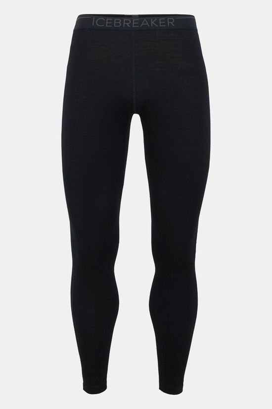 Icebreaker Mens 260 Tech Legging Tights Black/ Monsoon