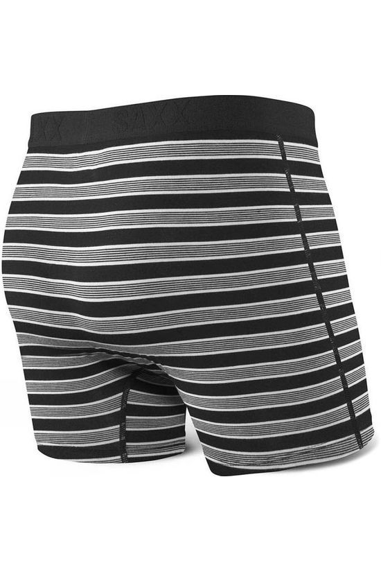 Saxx Mens Ultra Boxers with Fly Black Crew Stipe