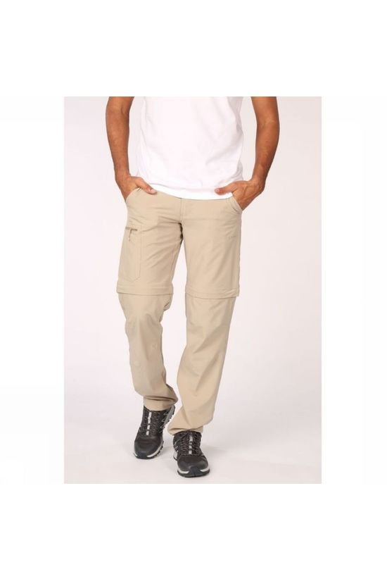 Ayacucho Mens Equator II Stretch Anti-Mosquito Zip Off Trouser Sand