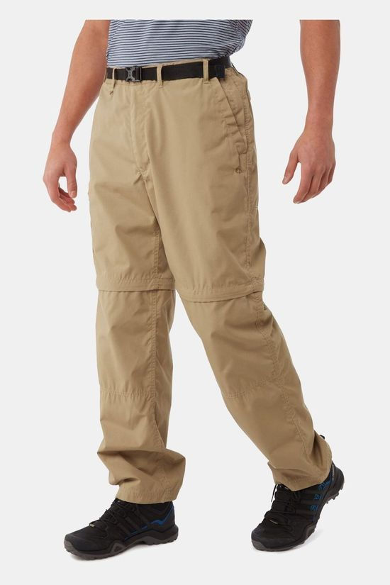 Craghoppers Mens Kiwi Zip-Off Trousers Raffia