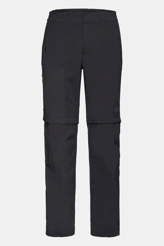 Jack Wolfskin Overland Zip Away Trousers Black