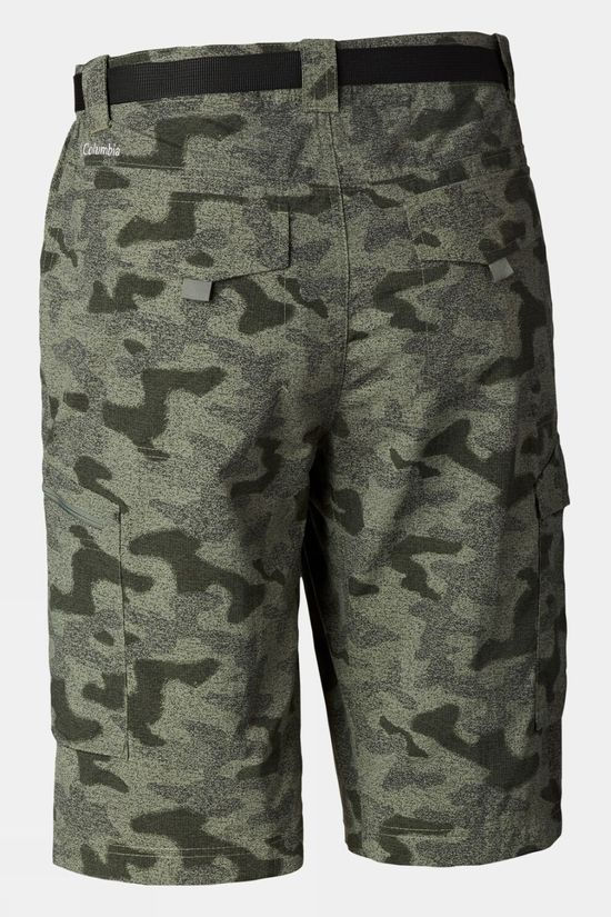 Columbia Mens Silver Ridge Printed Cargo Shorts Cypress Heather