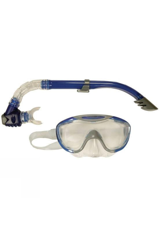 Speedo Glide Mask and Snorkel Grey/ Blue