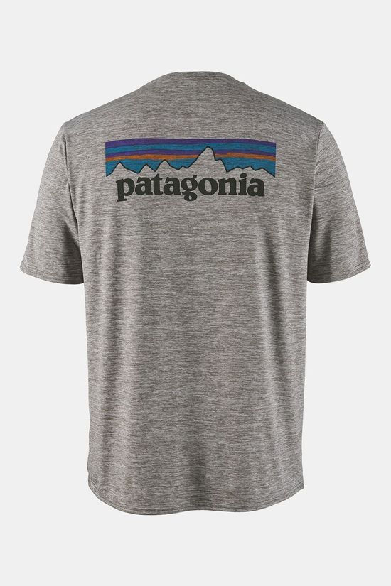 Patagonia Mens Cap Cool Daily Graphic T-Shirt P-6 Logo: Feather Grey