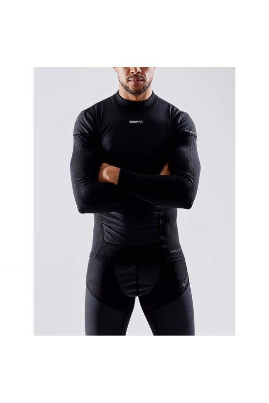 Craft Mens Active Extreme X Wind Long Sleeve Baselayer Black/Granite