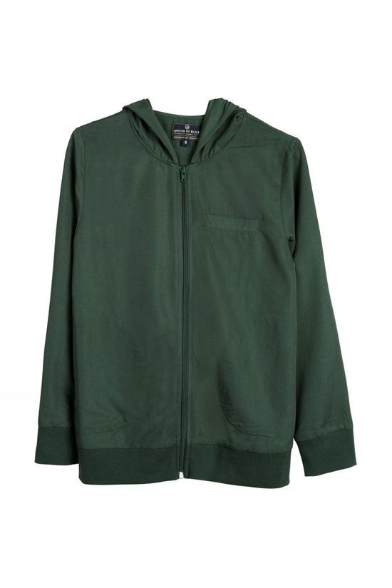 United By Blue Womens Roanoke Zip Up  Green