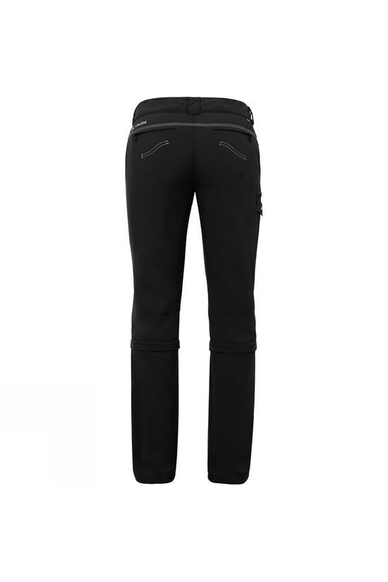 Vaude Womens Skomer Capri Zip Off Pants Black